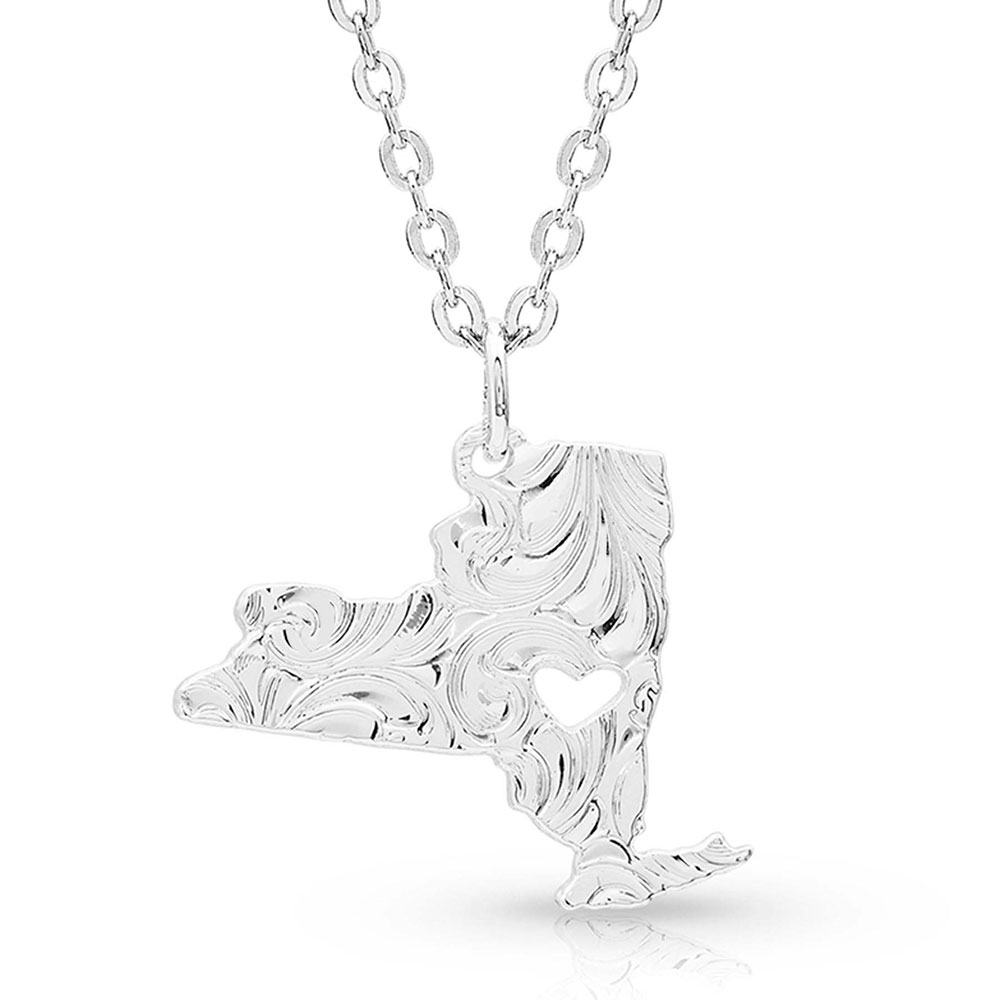 I Heart New York State Charm Necklace
