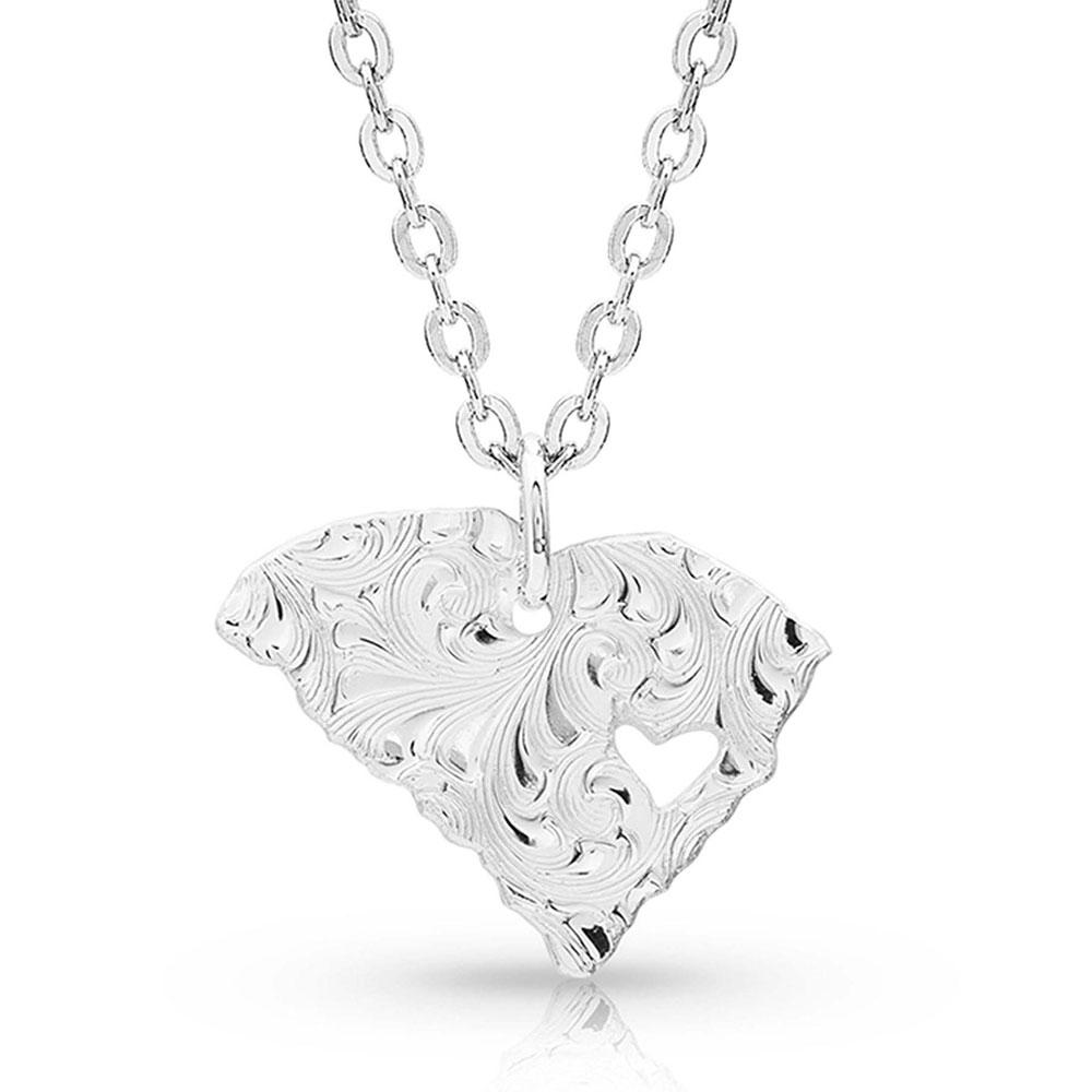I Heart South Carolina State Charm Necklace