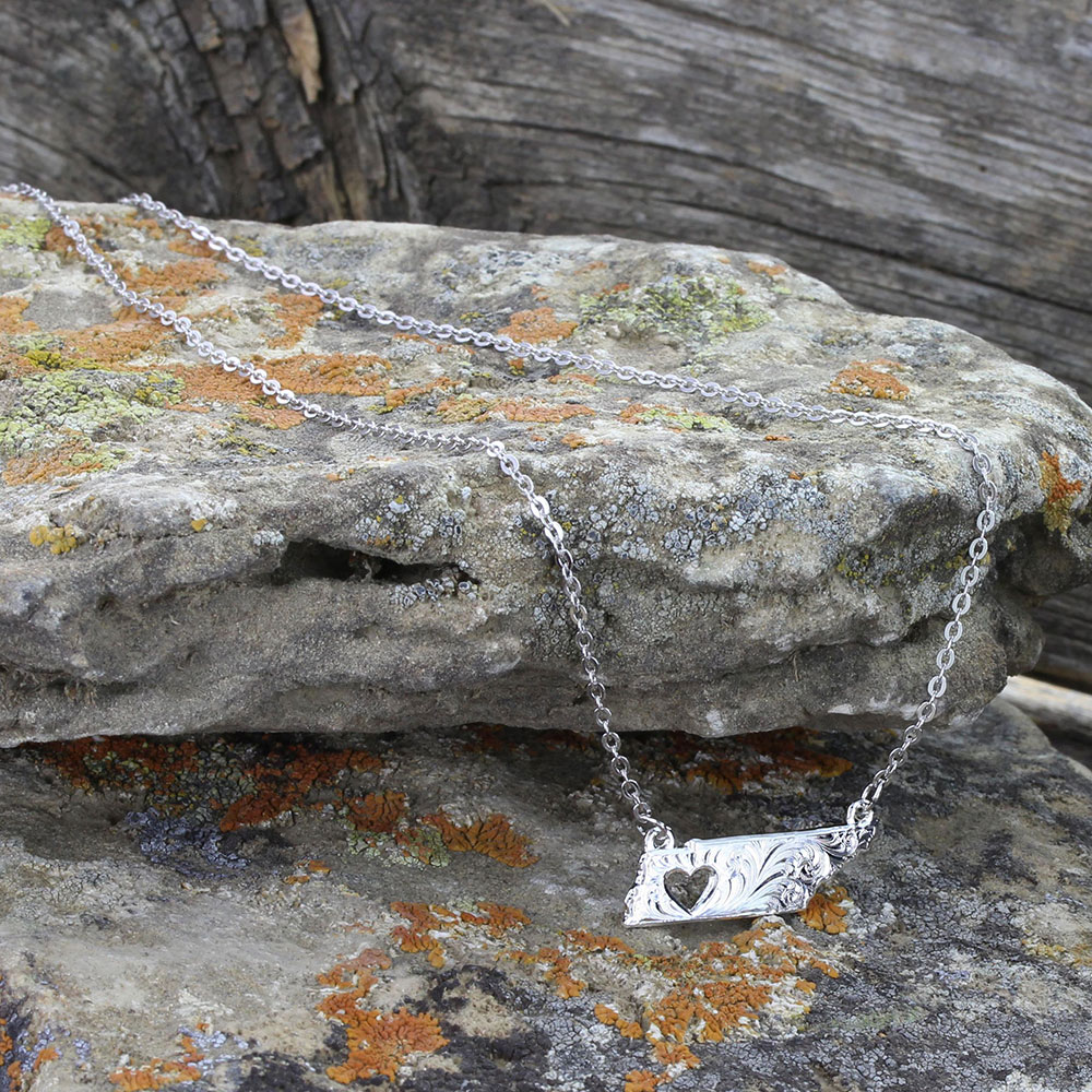 I Heart Tennessee State Charm Necklace