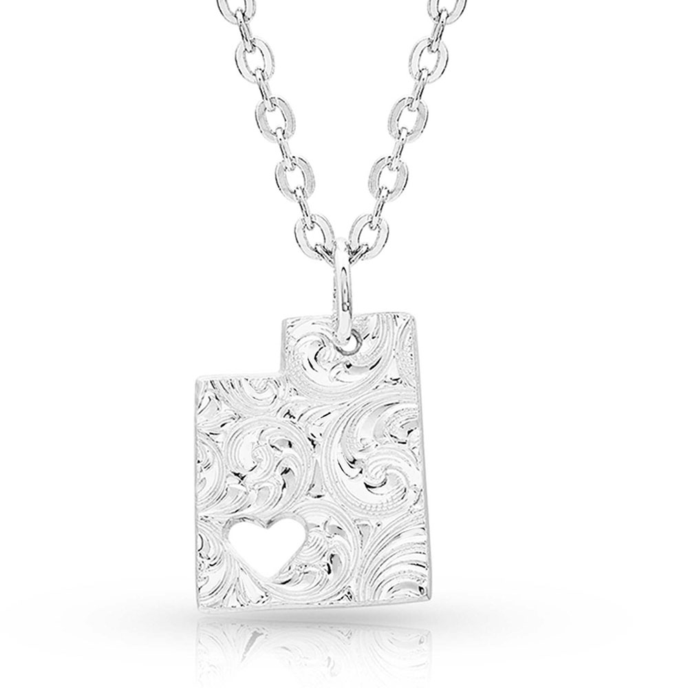 I Heart Utah State Charm Necklace