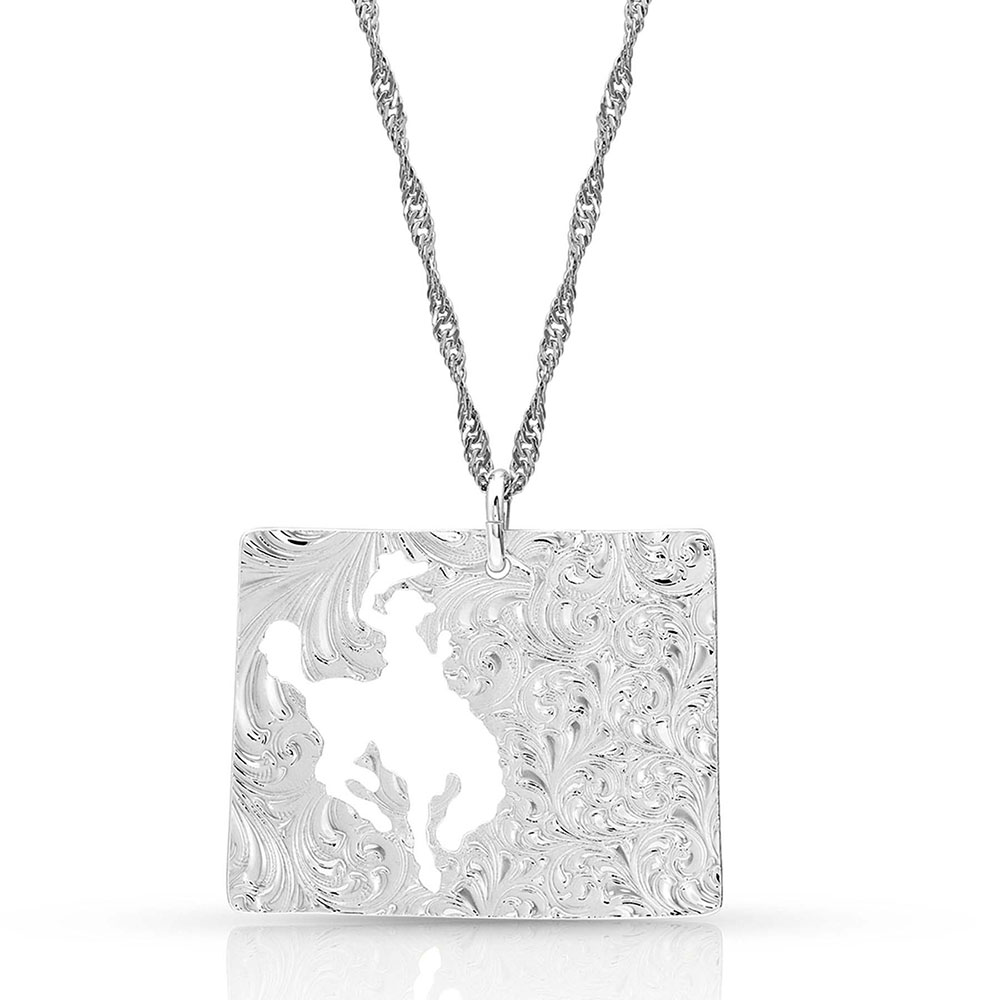 I Heart Wyoming State Charm Necklace