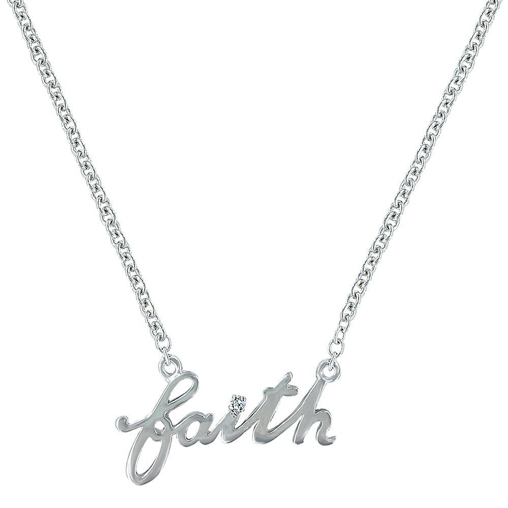 Written Faith Necklace