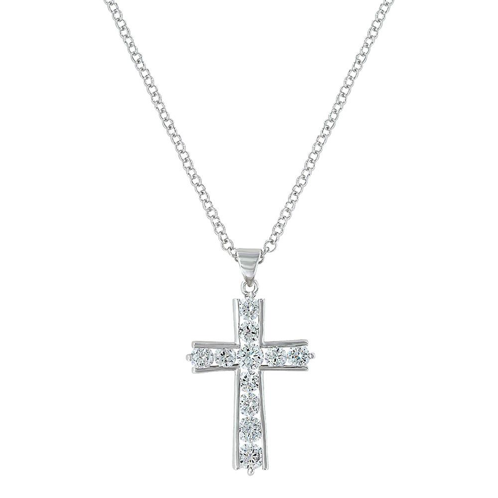 Round Brilliance Cross Necklace