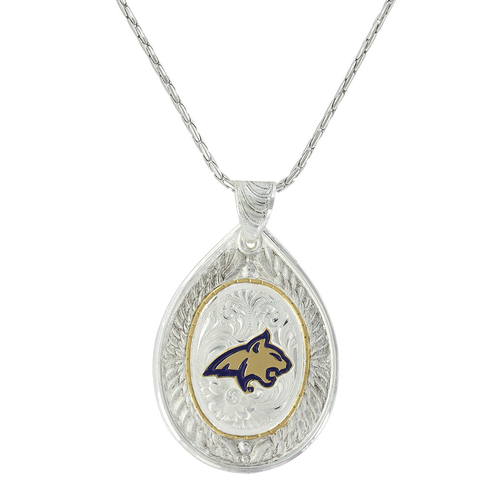 MSU Bobcat Feathered Flight Necklace