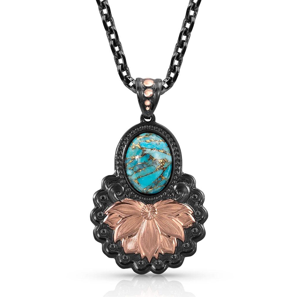 Wild Rose Sunset Turquoise Necklace