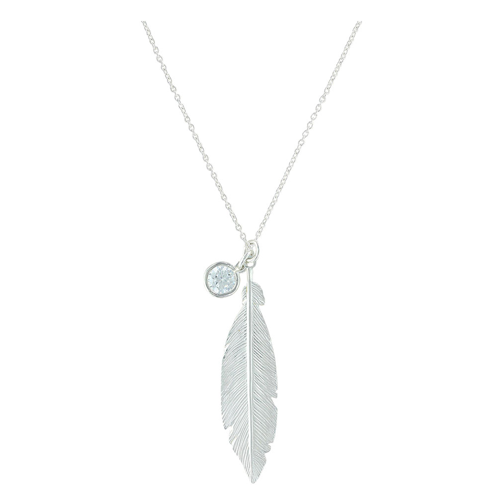 Starlight Feather Charm Necklace