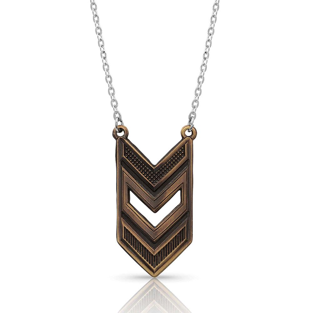Amber Shadows Patriotic Necklace