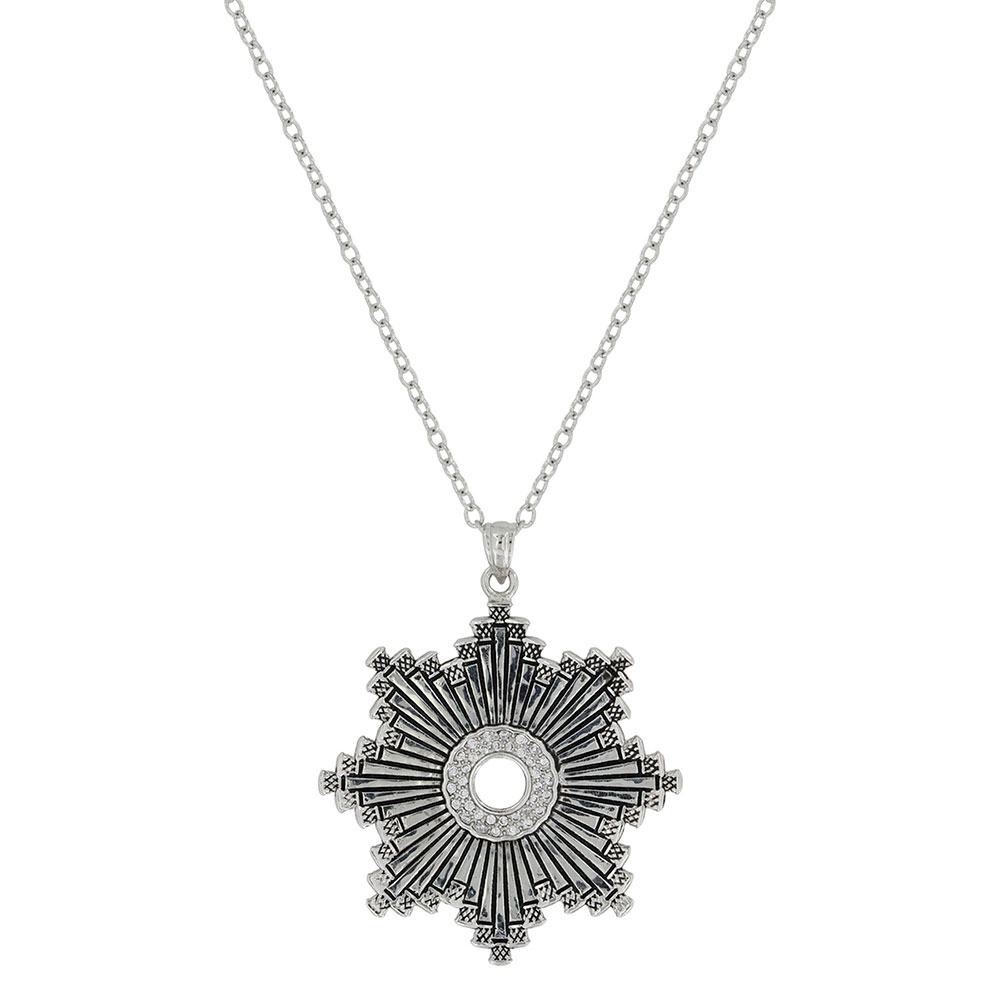 Horseshoe Nail Starburst Necklace