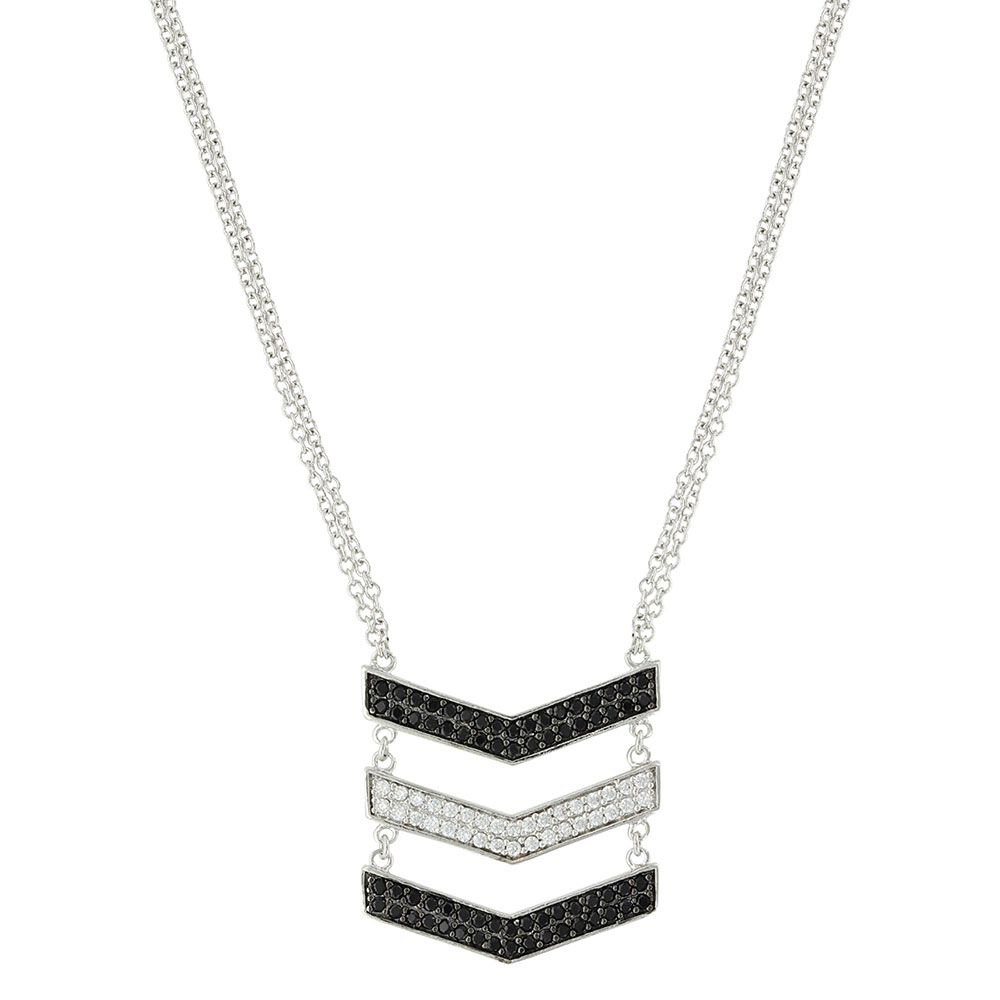 Chevron Suspension Necklace