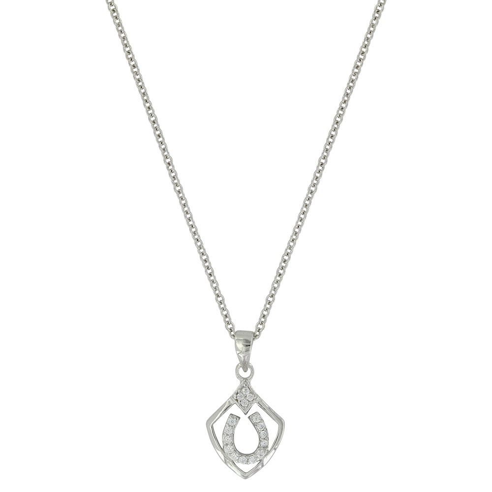 Shielded in Horseshoes Necklace