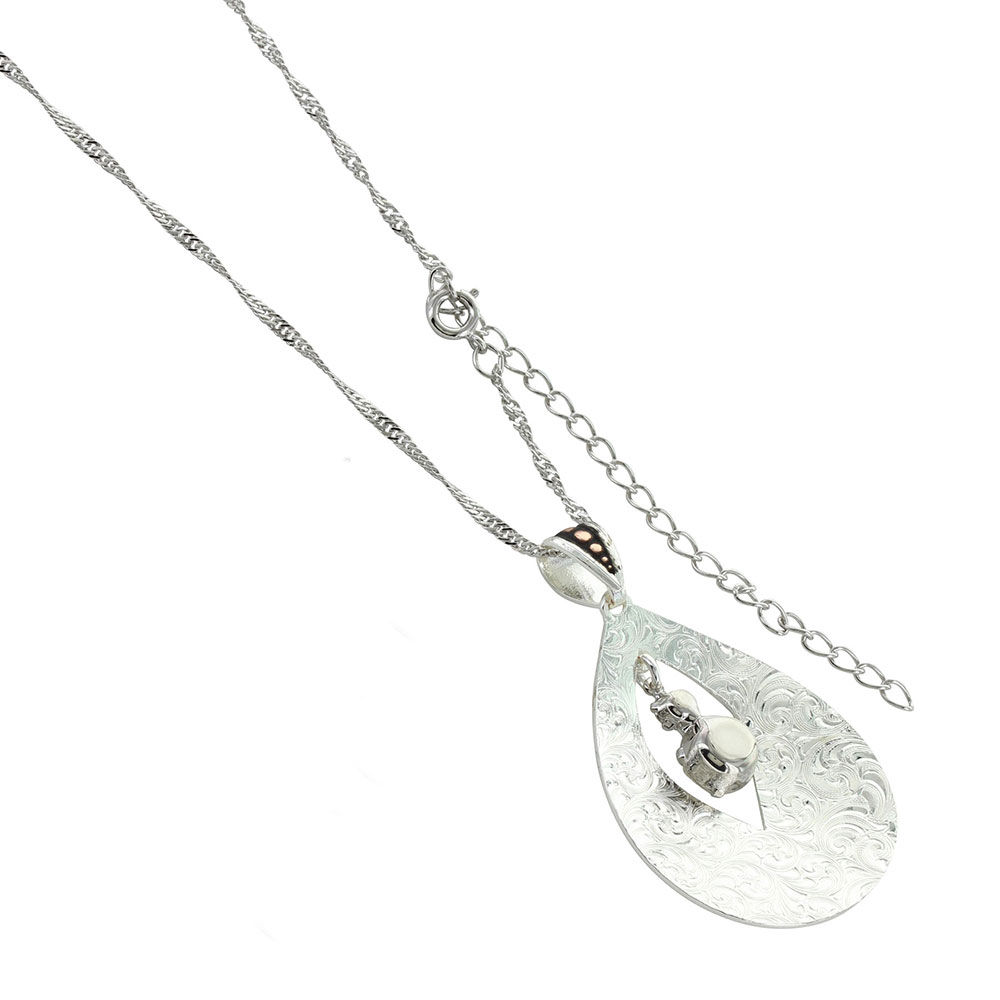 Two Toned Flowering Bud Necklace
