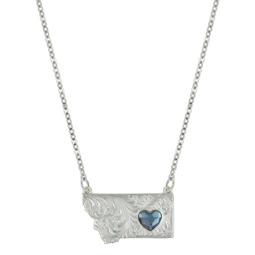 Montana Big Sky Love Heart Necklace