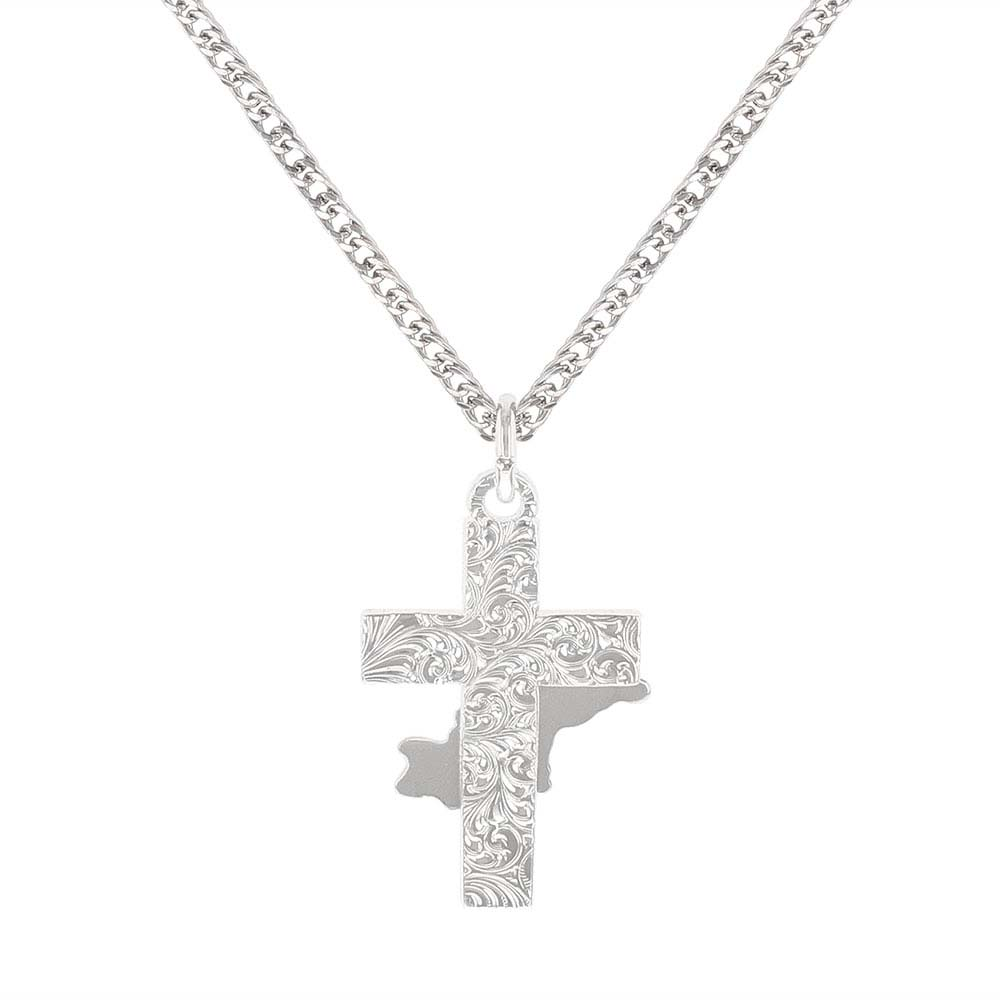 Bullrider Cross Necklace