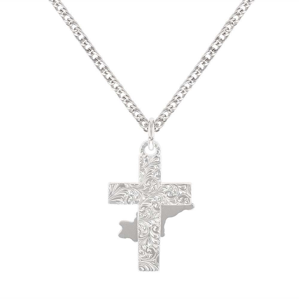 Bullrider Cross Necklace