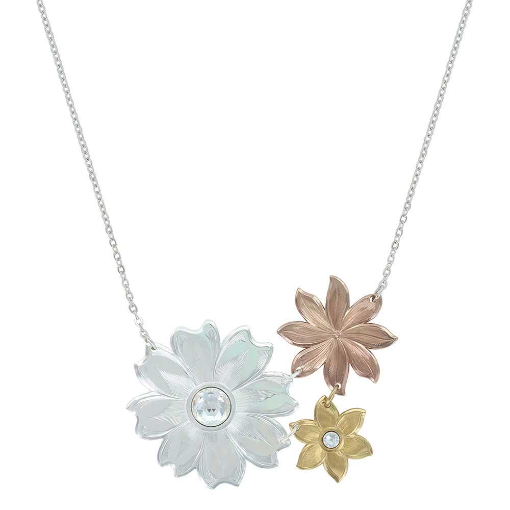 Montana Treasures Sunrise Trio Flower Necklace