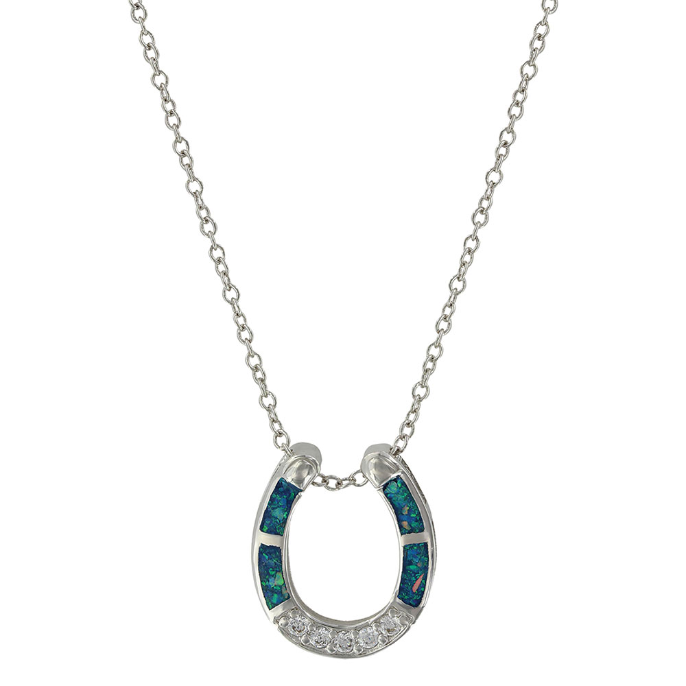 River of Lights Stars in Water Horseshoe Necklace