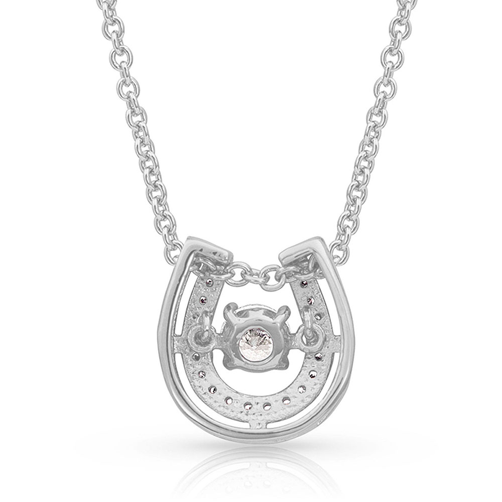 Dancing with Luck Horseshoe Necklace