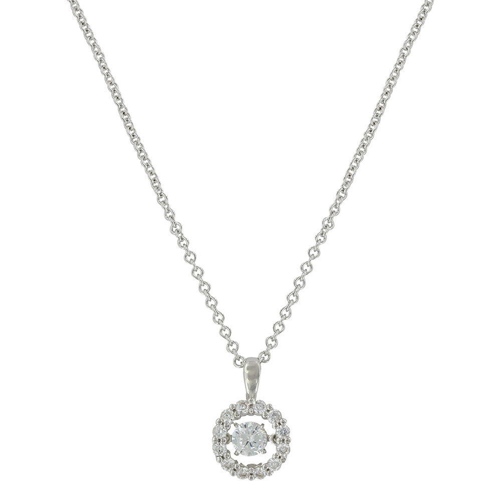 Dancing Halo Circle Necklace