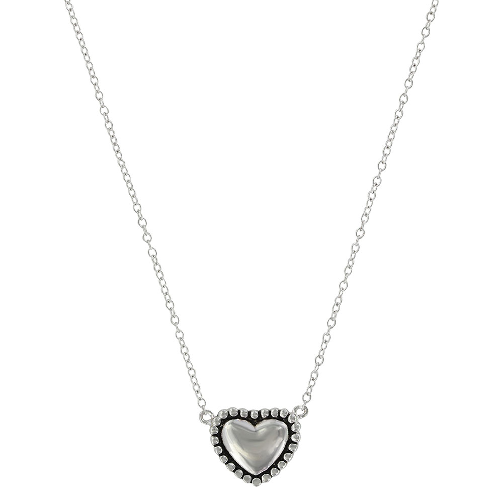 Beaded Puffy Heart Necklace