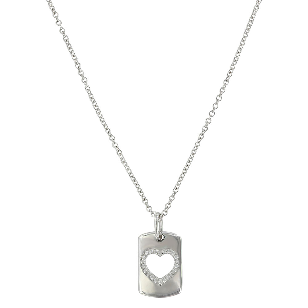 Tag of Love Heart Necklace