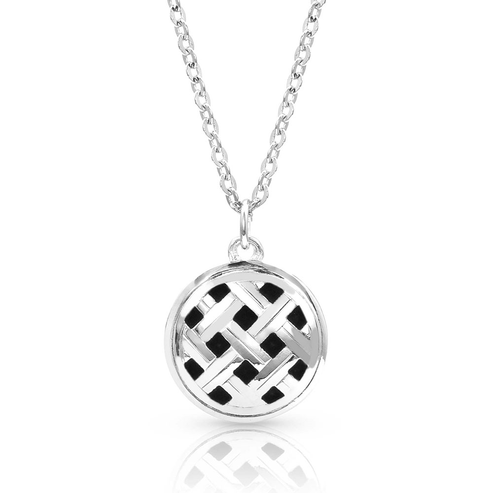 Silver Legacy Button Pendant Necklace
