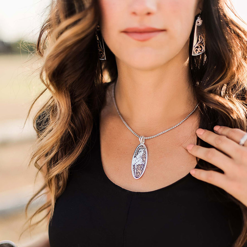 Proud Beauty Rose Gold Horse Necklace