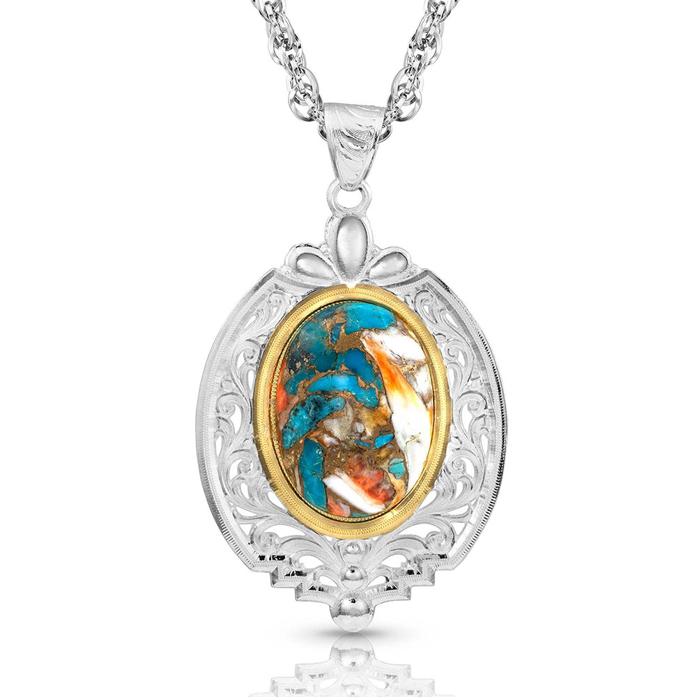 Sweet Memories Mountain Glacier Turquoise Necklace
