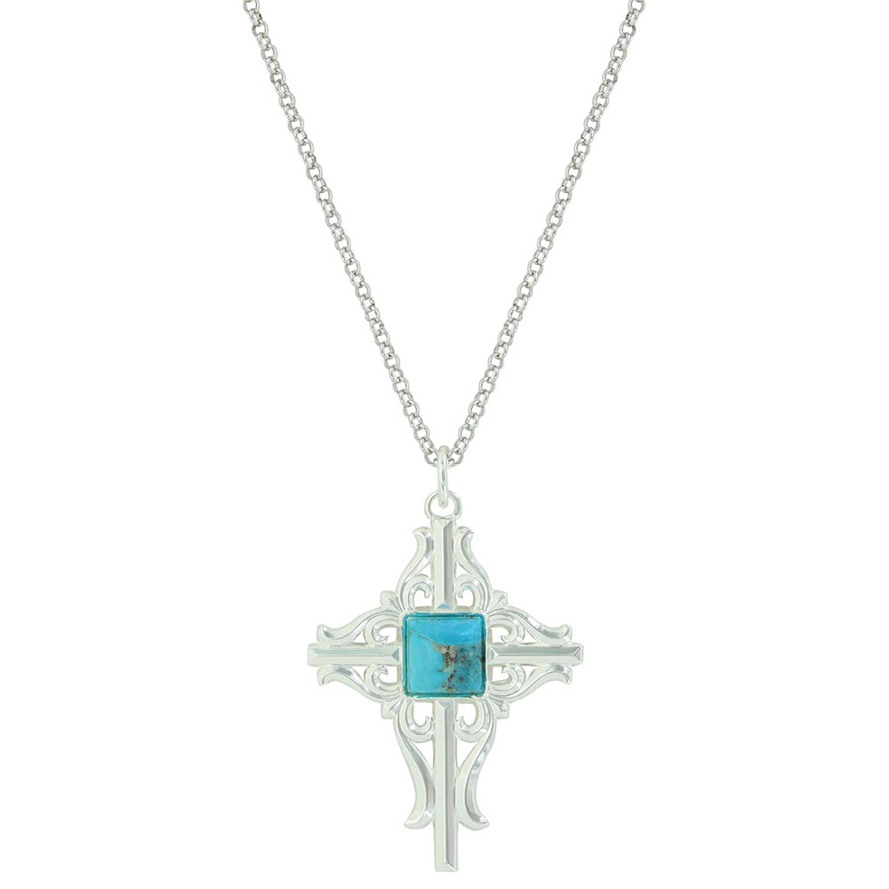Gates of the Mountains Turquoise Cross Necklace