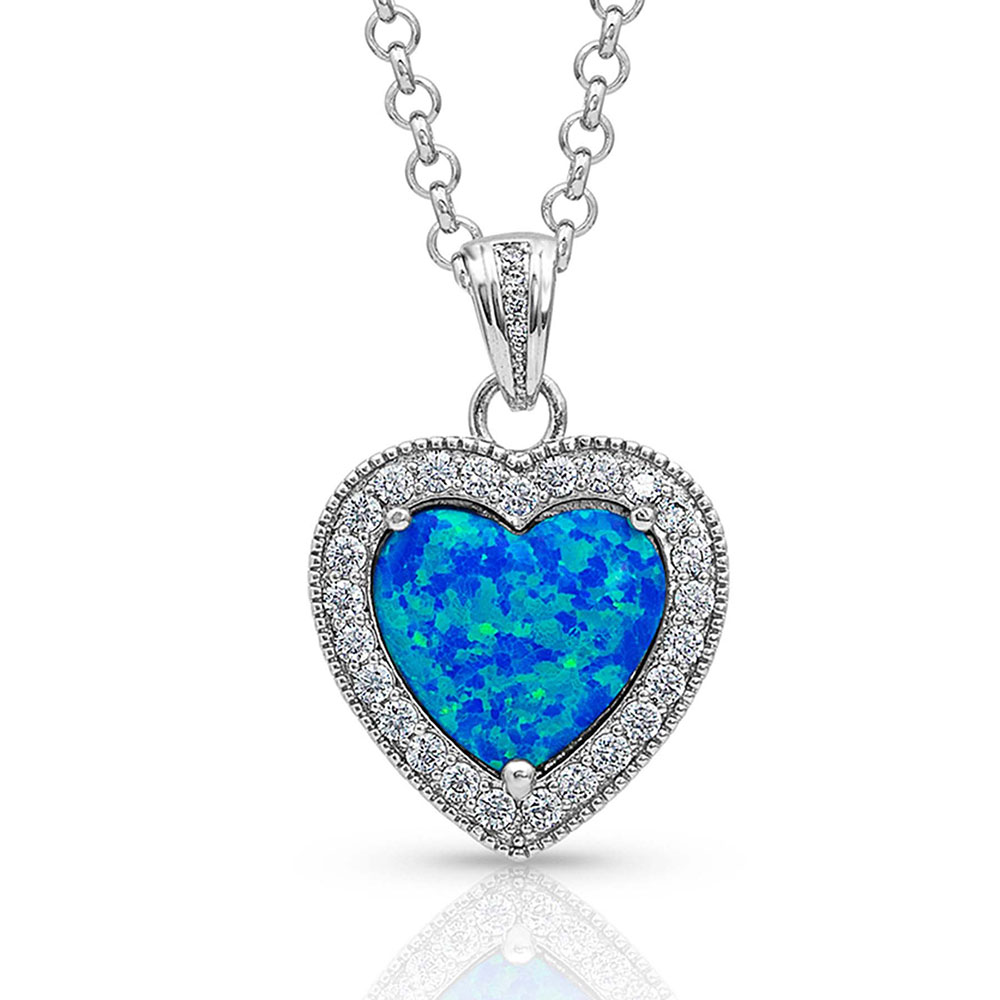 River of Lights Heart Stone Necklace