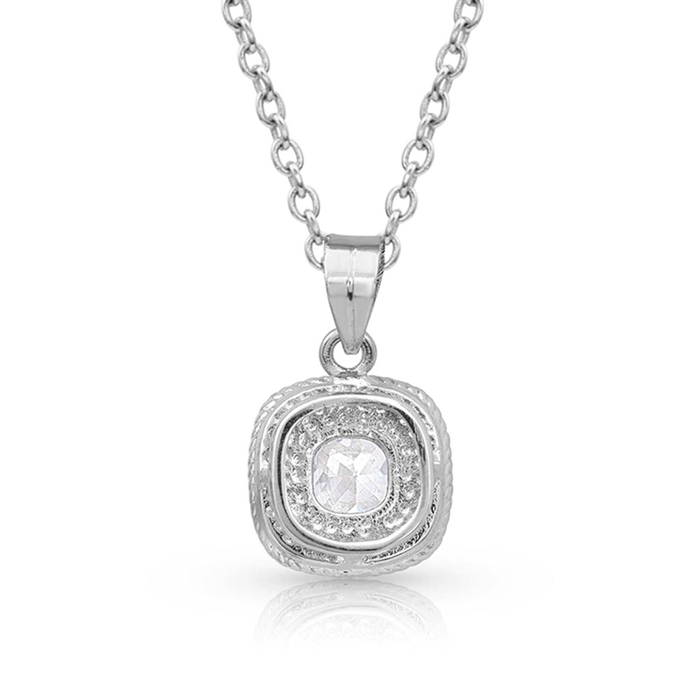 Squarely Brilliant Wrapped Necklace