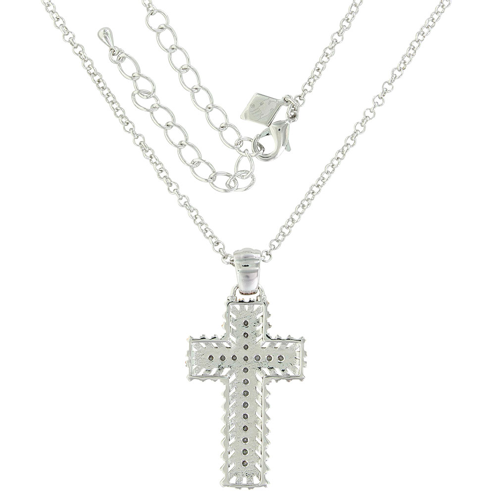 Rose Gold Buck Stitch Cross Necklace
