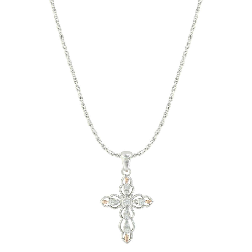 Against the Light Cross Necklace