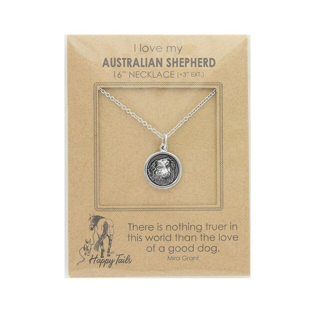 Happy Tails Australian Shepherd Charm Necklace