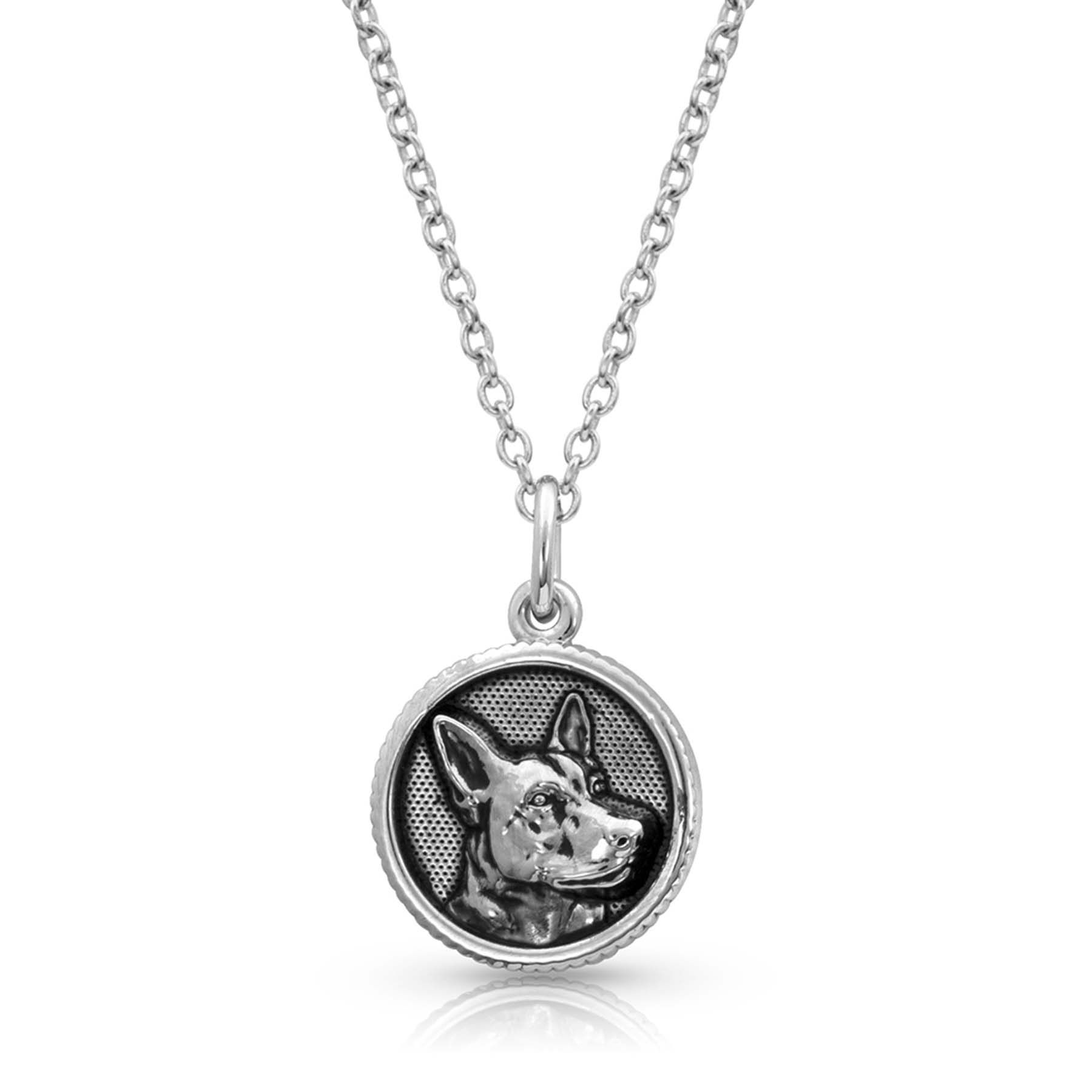 Happy Tails German Shepherd Charm Necklace
