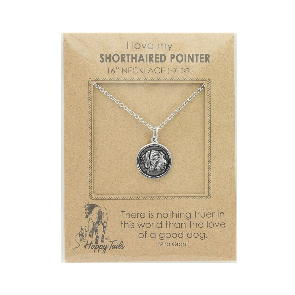 Happy Tails Shorthaired Pointer Charm Necklace