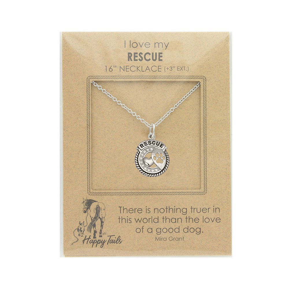 Rescue Paws Charm Necklace