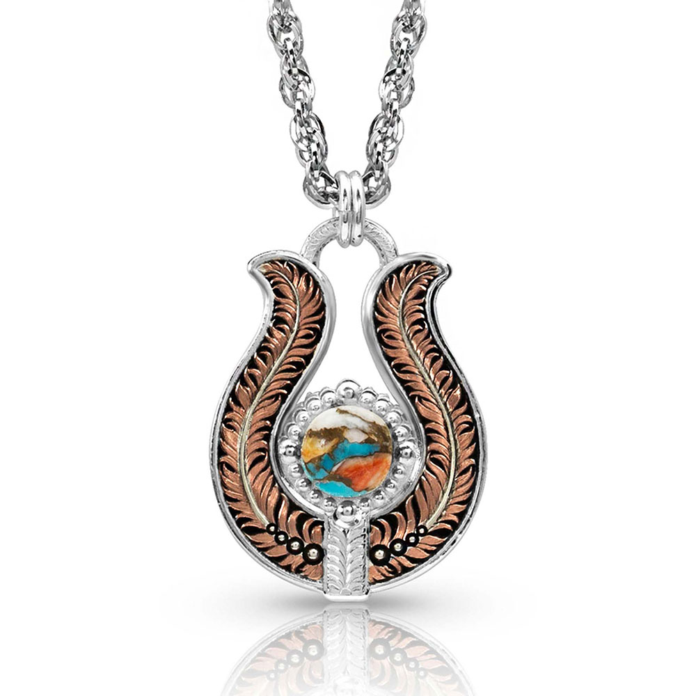 Glacier Mountain Feather Necklace