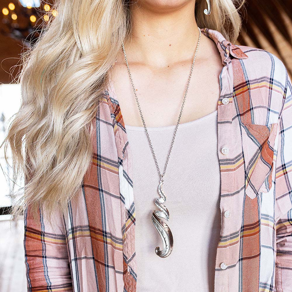 Sunkissed Rose Gold Free Spirit Feather Necklace