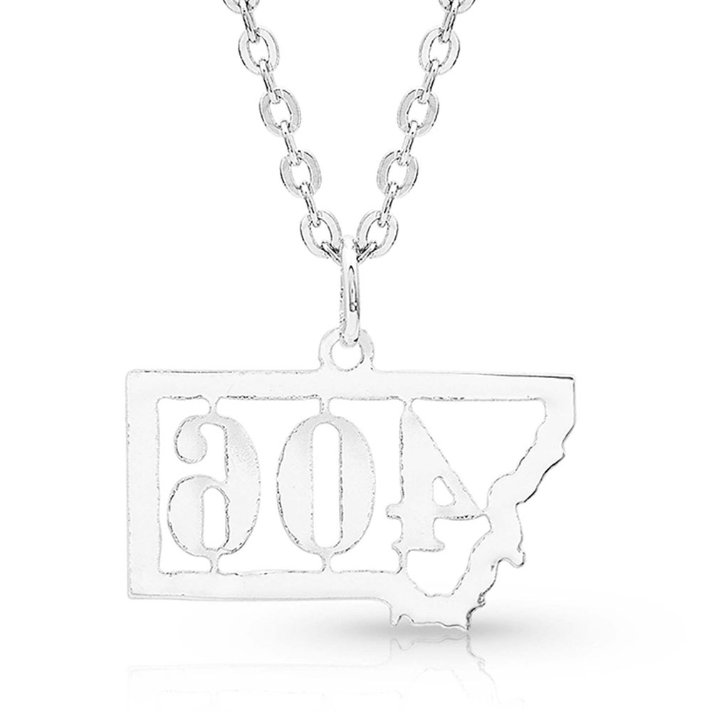 Montana 406 Silhouette State Necklace