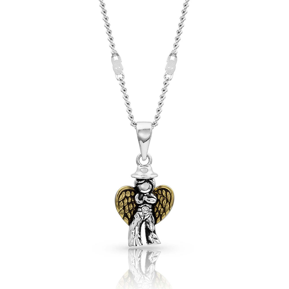 Cowboy Angel Pendant Necklace
