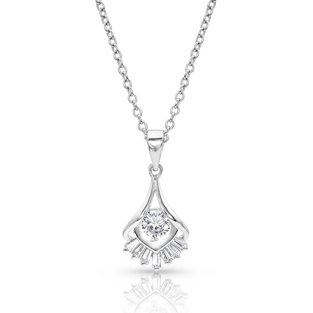 Star's Burst Drop Necklace