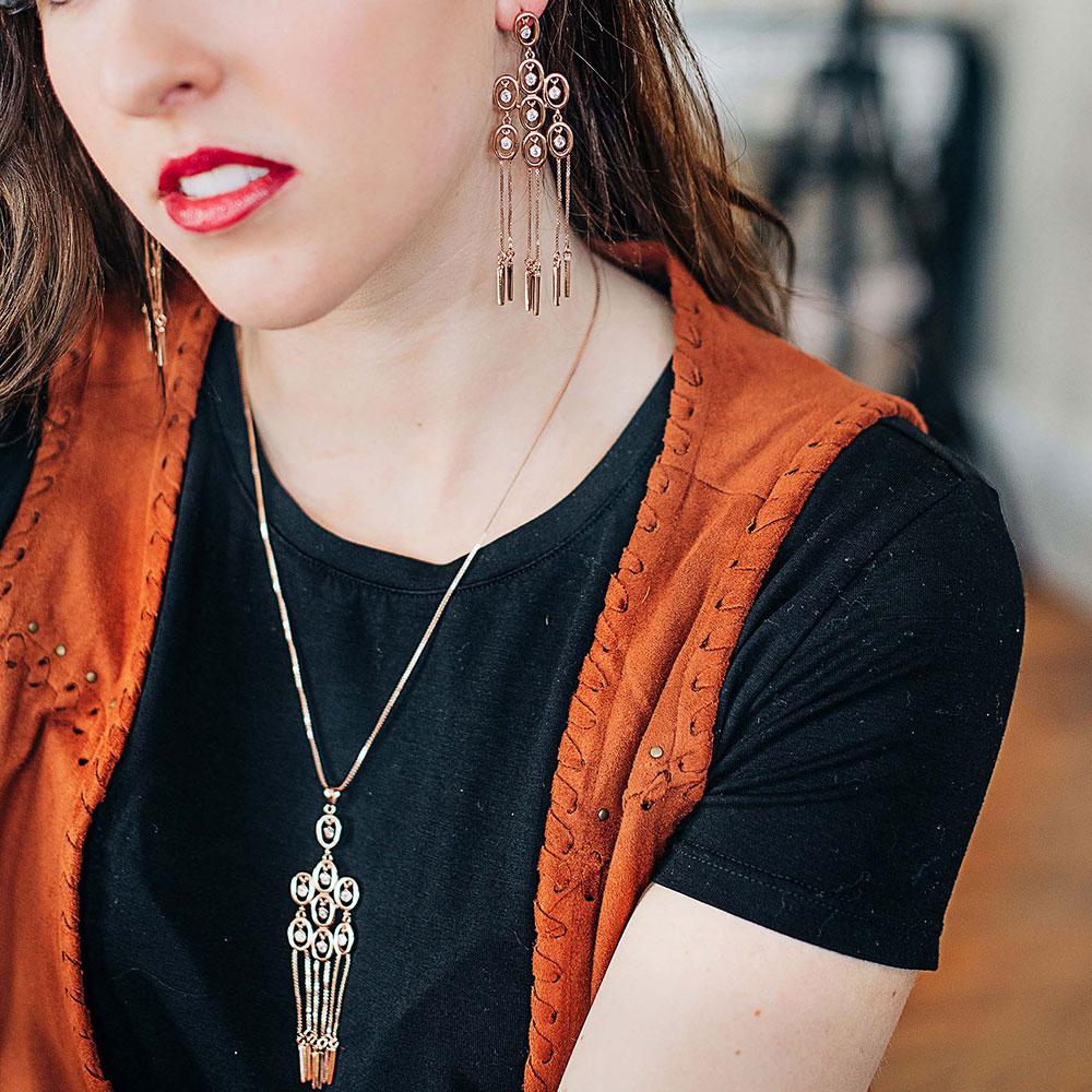 Rose Gold Pendulum Necklace