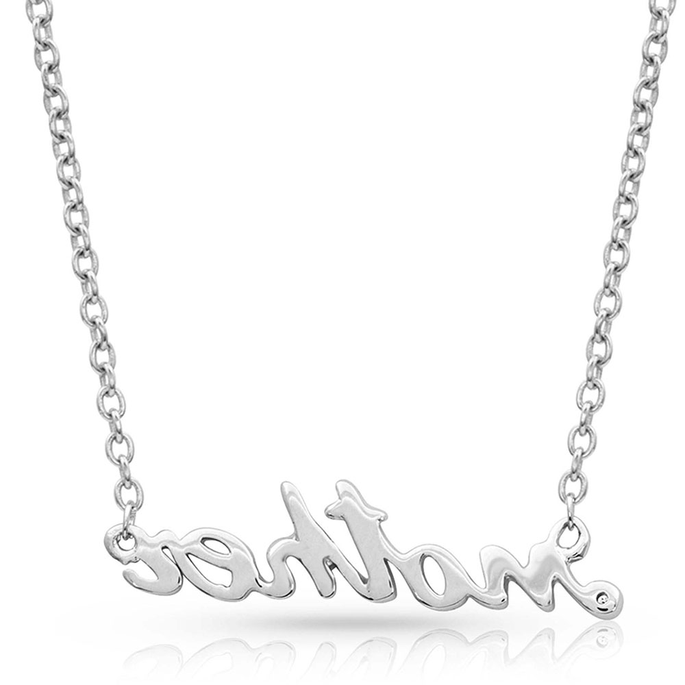 Written Mother Necklace