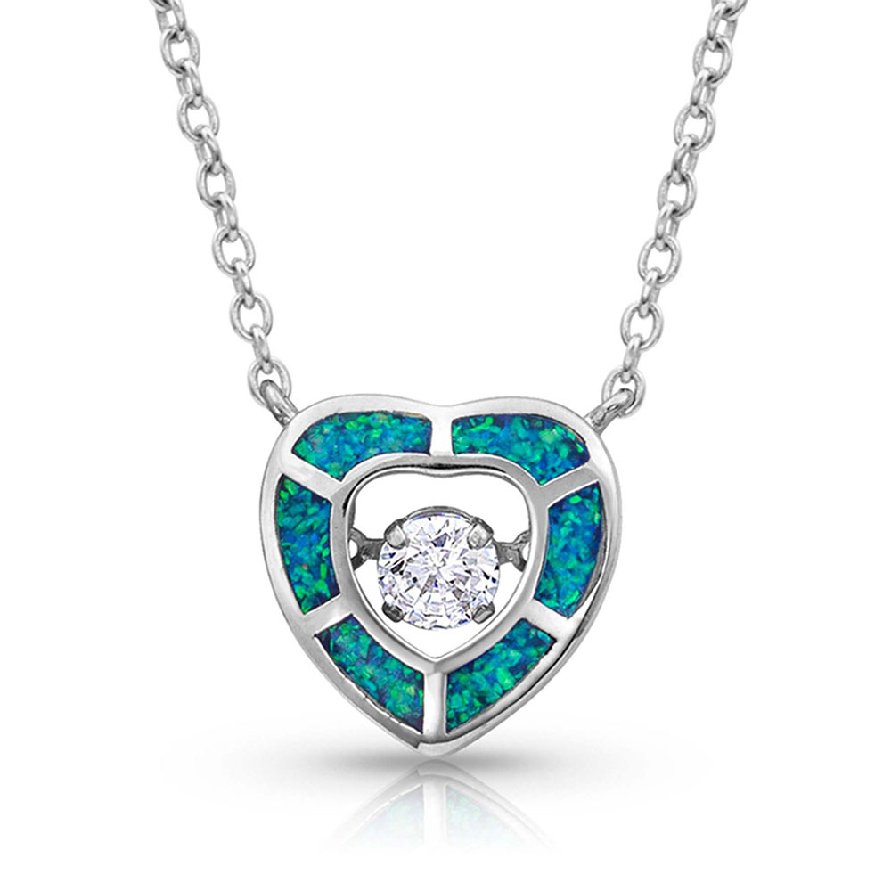 River of Lights Dancing Heart Necklace
