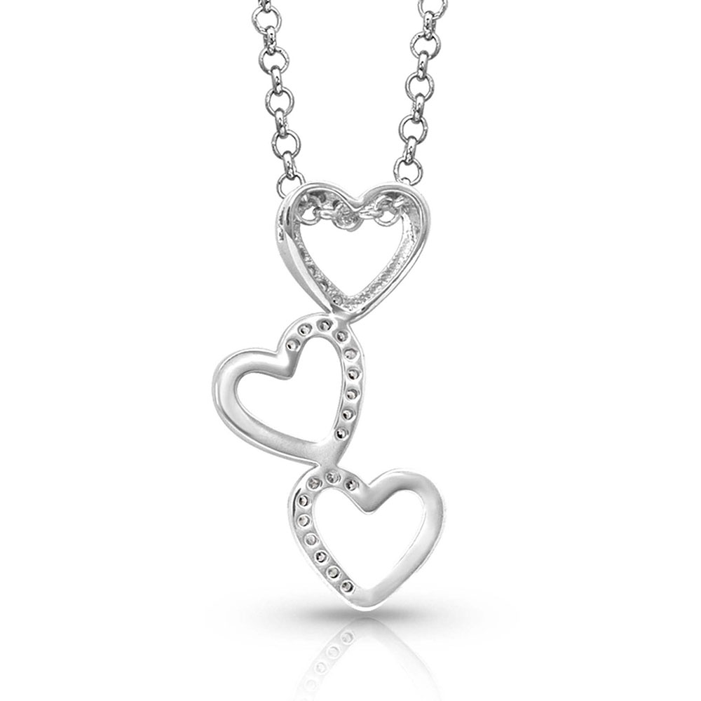 Tilting Trio Heart Necklace