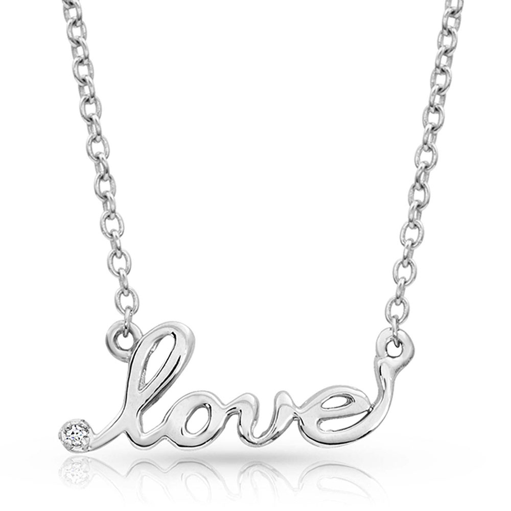 Written Love Necklace