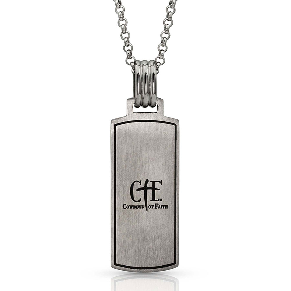 Cowboys of Faith Cross Marker Necklace