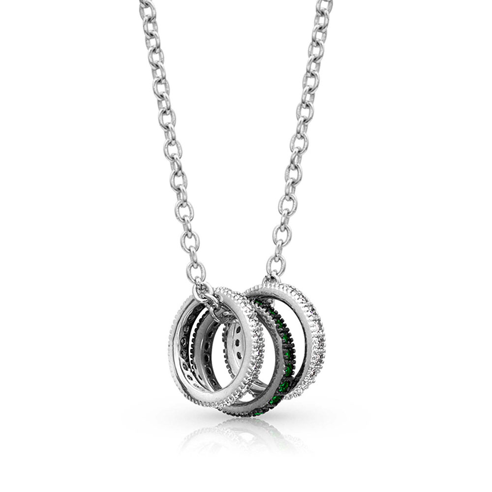 Mini Three Ring Necklace