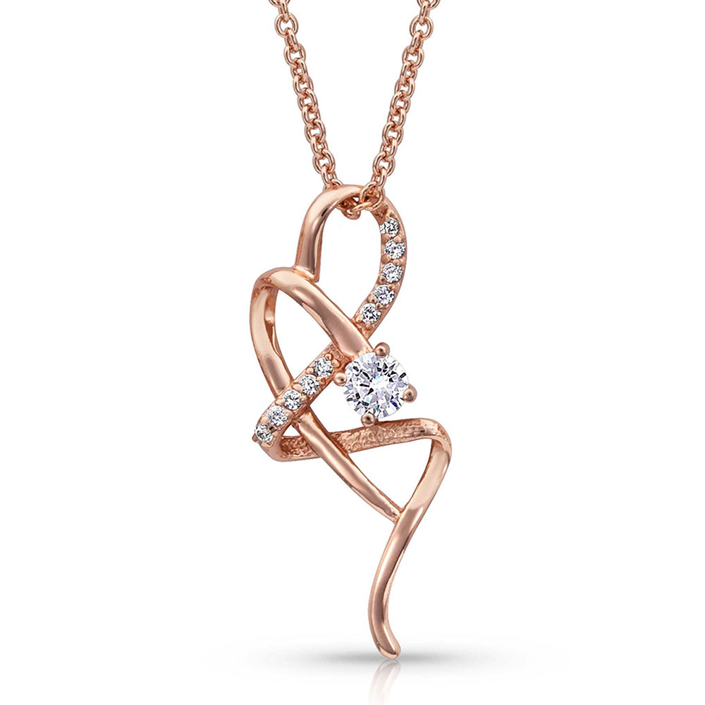 It's Rose Gold Complicated Necklace