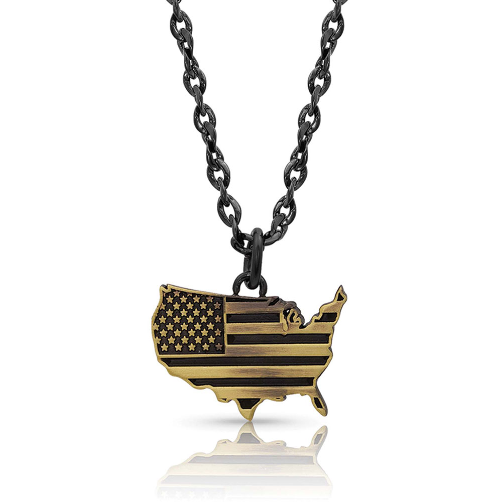 Home of the Brave USA Necklace